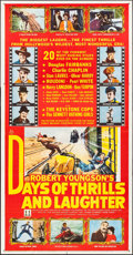 "Movie Posters:Documentary, Days of Thrills and Laughter (20th Century Fox, 1961). Three Sheet (41"" X 79""). Documentary.. ..."