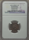 Indian Cents, 1873 1C -- Scratches -- NGC Details. AU. This lot will also includes a: 1874 1C -- Improperly Cleaned -- NGC Details. A... (Total: 2 coins)