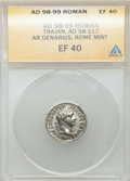 Ancients:Ancient Lots , Ancients: GROUP LOTS. Roman Provincial and Roman Imperial. Lot oftwo (2) BI and AR issues. ANACS VF 20-EF 40.... (Total: 2 coins)