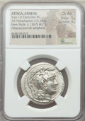 Ancients:Greek, Ancients: ATTICA. Athens. Ca. 165-42 BC. AR tetradrachm (15.26 gm).NGC Choice AU 5/5 - 4/5....