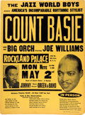 Music Memorabilia:Posters, Count Basie Rockland Palace Concert Poster (The Jazz World Boys, 1965). Extremely Rare....