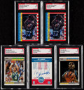 Autographs:Sports Cards, 1987 Fleer Basketball Signed Card Collection (24).. ...