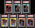 Autographs:Sports Cards, 1989-90 Fleer/Hoops Basketball Signed Card Collection (40).. ...