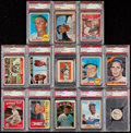 Baseball Cards:Lots, 1952-1972 Multi-Brand Baseball Stars & Hall of Famers PSA Graded Collection (13). . ...