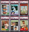 Baseball Cards:Lots, 1960's - 1980's Baseball Hall of Famers PSA-Graded Collection (6)....