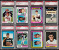 Baseball Cards:Lots, 1971-1987 Nolan Ryan PSA Graded Collection (8). . ...