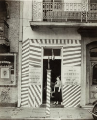 Walker Evans (American, 1903-1975) Barber Shop, New Orleans, 1936 Gelatin silver 9-5/8 x 7-1/2 in