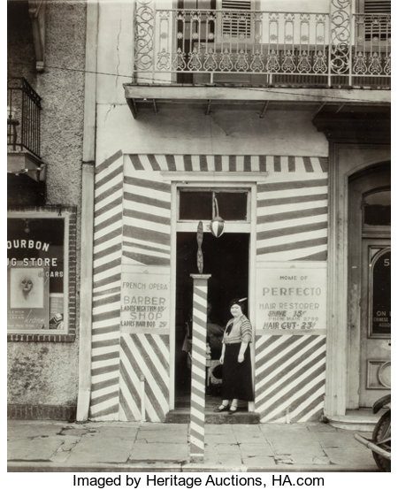 Walker Evans (American, 1903-1975)Barber Shop, New Orleans, 1936Gelatin silver9-5/8 x 7-1/2 inches (24.4 x 19.1 cm...
