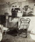 Photographs, Walker Evans (American, 1903-1975). Interior of Coal Miner's Home with Rocking Chair and Advertisements on Wall, West Virg...