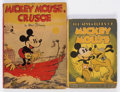 Platinum Age (1897-1937):Miscellaneous, Mickey Mouse Platinum Age Books Group (David McKay/Whitman,1932-36) Condition: Average VG.... (Total: 2 Items)