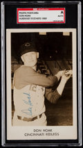 Autographs:Post Cards, Signed Don Hoak Real Photo Post Card SGC Authentic. ...