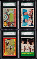 Baseball Cards:Lots, 1959-63 Topps Mickey Mantle SGC Graded Quartet (4).. ...
