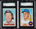 Baseball Cards:Lots, 1967 Topps Mickey Mantle and 1968 Topps Tom Seaver SGC Graded Pair(2).. ...