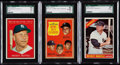 Baseball Cards:Lots, 1961-66 Topps Mickey Mantle SGC Graded Trio (3).. ...