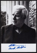 """Movie Posters:Comedy, Charlie Chaplin (c.1960). Autographed Photo (4"""" X 5.5""""). Comedy....."""