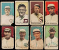 Baseball Cards:Lots, 1920 W519 Decalco Litho Co. Unnumbered & Numbered BaseballCollection (16) With Ruth. ...