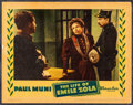 "Movie Posters:Academy Award Winners, The Life of Emile Zola & Other Lot (Warner Brothers, 1937).Linen Finish Lobby Card (11"" X 14""), Uncut British Pressbook (12...(Total: 4 Items)"