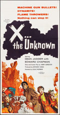 """Movie Posters:Science Fiction, X... the Unknown (Warner Brothers, 1957). Three Sheet (41"""" X 79"""").Science Fiction.. ..."""
