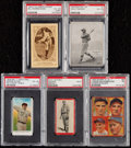 Baseball Cards:Lots, 1909-1935 Multi-Brand PSA Graded Collection (5). . ...