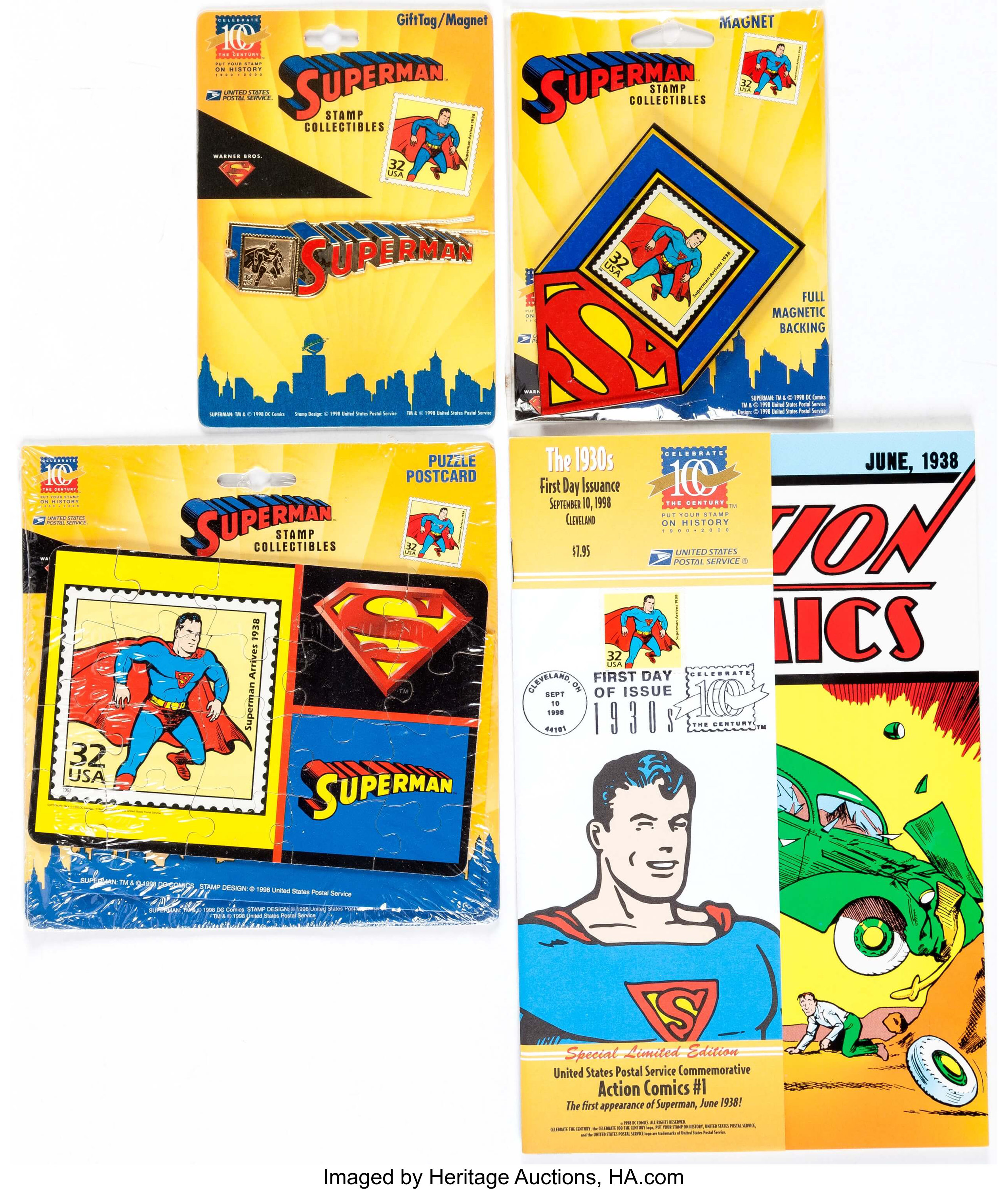 Superman United States Postal Service Commemorative Set Usps Lot 12725 Heritage Auctions