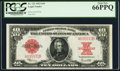 Large Size:Legal Tender Notes, Fr. 123 $10 1923 Legal Tender PCGS Gem New 66PPQ.. ...