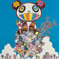 Fine Art - Work on Paper:Print, Takashi Murakami (b. 1962). The Pandas Say They're Happy,2014. Offset lithograph in colors on paper. 19-5/8 x 19-5/8 in...