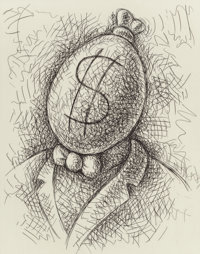 Tom Otterness (b. 1952) Wealthy Man, 1997 Etching on paper 24 x 16 inches (61.0 x 40.6 cm) (sheet