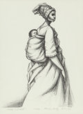"Fine Art - Work on Paper:Print, Herman ""Kofi"" Bailey (1931-1981). Mother and Child, 1973.Lithograph on paper. 24 x 18 inches (61.0 x 45.7 cm) (sheet). ..."
