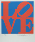 Prints & Multiples, Robert Indiana (b. 1928). Love, from Book of Love, 1996. Screenprint in colors on A.N.W Crestwood Museum Edition Pap...