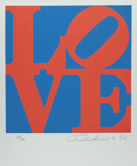 Robert Indiana (b. 1928) Love, from Book of Love, 1996 Screenprint in colors on A.N.W Cre