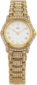 Estate Jewelry:Watches, Ebel Lady's Diamond, Gold 1911 Watch. ...