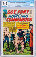 Silver Age (1956-1969):War, Sgt. Fury and His Howling Commandos #5 (Marvel, 1964) CGC NM- 9.2 Off-white pages....