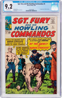 Sgt. Fury and His Howling Commandos #5 (Marvel, 1964) CGC NM- 9.2 Off-white pages