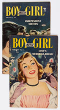 Golden Age (1938-1955):Romance, Boy Meets Girl #8 and 10 Group (Lev Gleason, 1950) Condition:Average VG.... (Total: 2 Comic Books)