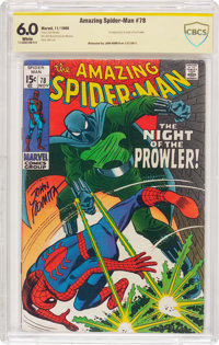 The Amazing Spider-Man #78 Witnessed Signature (Marvel, 1969) CBCS FN 6.0 White pages