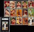 Baseball Cards:Lots, 1951 Bowman Ted Williams SGC Authentic With Two 1951 BowmanBaseball Cards and Twelve 1951 Topps Ringside Boxing Cards.