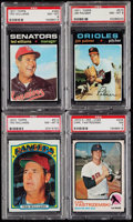 Baseball Cards:Lots, 1971-73 Topps Baseball Hall of Famers PSA Graded Quartet (4) -Includes Williams, Palmer, & Yastrzemski. . ...