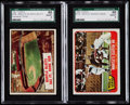 """Baseball Cards:Lots, 1961 Topps """"Mantle Blasts 565 FT. Home Run"""" and 1965 Topps""""Mantle's Clutch HR"""" SGC Graded Pair (2).. ..."""