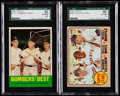 "Baseball Cards:Lots, 1963 Topps ""Bombers' Best"" #173 and 1968 Topps ""Super Stars"" #490SGC Graded Pair (2).. ..."
