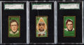 Baseball Cards:Lots, 1911 T205 Piedmont & Sweet Caporal SGC 20 FR 1.5 Graded Trio(3) - Includes Tinker, Wallace, & Dooin.. ...