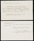 Autographs:Index Cards, Signed Baseball Greatest Thrills & Autographs Index Card Collection (20 Different Players). ...