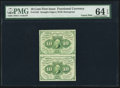 Fractional Currency:First Issue, Fr. 1242 10¢ First Issue Uncut Vertical Pair PMG Choice Uncirculated 64 EPQ.. ...