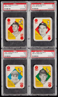 Baseball Cards:Lots, 1951 Topps Red & Blue Back PSA EX 5 Graded Quartet (4). . ...