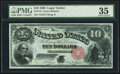 Large Size:Legal Tender Notes, Fr. 113 $10 1880 Legal Tender PMG Choice Very Fine 35....