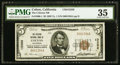 National Bank Notes:California, Colton, CA - $5 1929 Ty. 1 The Citizens NB Ch. # 13356. ...