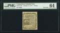 Colonial Notes:Connecticut, Connecticut October 11, 1777 3d PMG Choice Uncirculated 64...