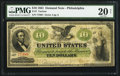 Large Size:Demand Notes, Fr. 7 $10 1861 Demand Note PMG Very Fine 20 Net.. ...