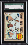 "Baseball Cards:Singles (1960-1969), 1968 Topps Killebrew/Mays/Mantle ""Super Stars"" #490 SGC 84 NM 7....."