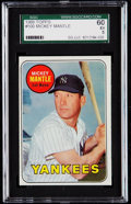 Baseball Cards:Singles (1960-1969), 1969 Topps Mickey Mantle (Yellow Letters) #500 SGC 60 EX 5.. ...
