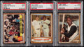 Baseball Cards:Lots, 1962 Topps Baseball PSA Graded Trio (3) - Includes Clemente,Mantle, Mays & Ruth. . ...